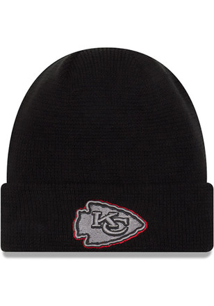 New Era Kansas City Chiefs Mens Black Pop Waffler Knit Hat
