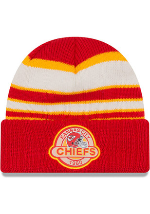 New Era Kansas City Chiefs Mens Red Striped Select Knit Hat