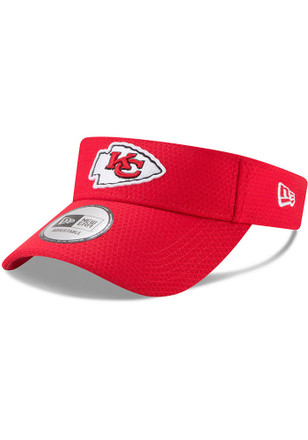 New Era Kansas City Chiefs Mens Red 2017 Official Training Adjustable Visor
