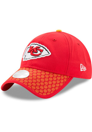 New Era Kansas City Chiefs Red 2017 Official Sideline Adjustable Hat