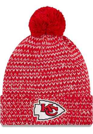 New Era Kansas City Chiefs Womens Red Frosty Cuff Knit Hat