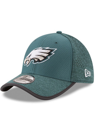 New Era Philadelphia Eagles Mens Midnight Green 2017 Official Training Flex Hat