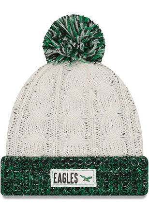 New Era Philadelphia Eagles Brown Rugged Tag-Historic Knit Hat
