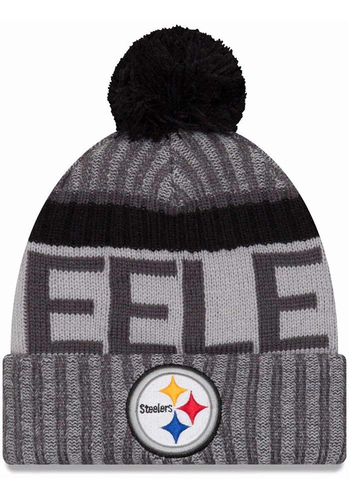 New Era Pittsburgh Steelers Grey 2017 Sport Youth Knit Hat - Image 1