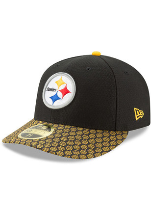 Pittsburgh Steelers New Era Mens Black 2017 Official Sideline Fitted Hat