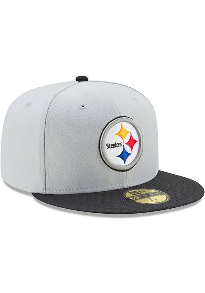 New Era Pittsburgh Steelers Mens Grey 2017 Official Sideline Fitted Hat -  Image 2 aeac303cc
