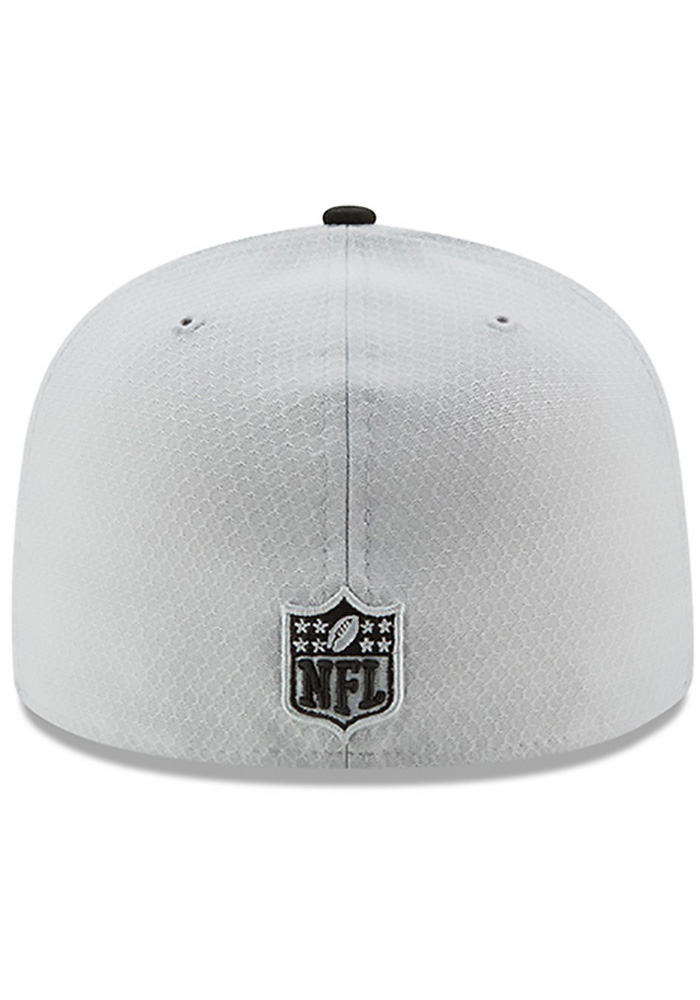 New Era Pittsburgh Steelers Mens Grey 2017 Official Sideline Fitted Hat -  Image 5 5f0162ce4