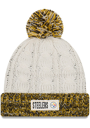 New Era Pittsburgh Steelers Womens Brown Rugged Tag Knit Hat