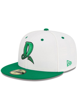 Dayton Dragons New Era Mens White AC 59FIFTY Fitted Hat