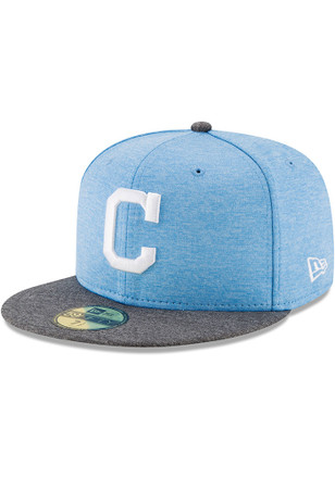 Cleveland Indians New Era Mens Grey 2017 Fathers Day AC 59FIFTY Fitted Hat