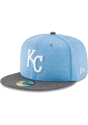 Kansas City Royals New Era Mens Grey 2017 Fathers Day AC 59FIFTY Fitted Hat