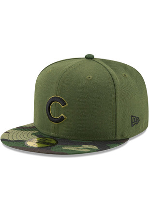 Chicago Cubs New Era Mens Green 2017 Memorial Day AC 59FIFTY Fitted Hat