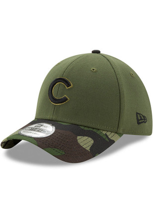 New Era Chicago Cubs Mens Green 2017 Memorial Day 39THIRTY Flex Hat