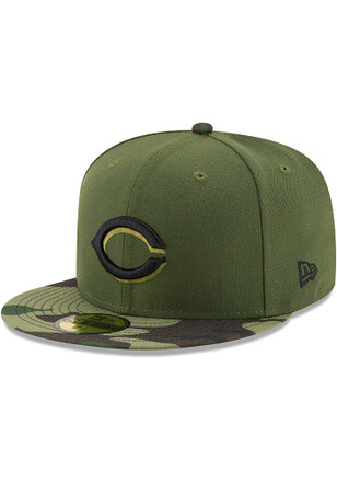 Cincinnati Reds New Era Mens Green 2017 Memorial Day AC 59FIFTY Fitted Hat