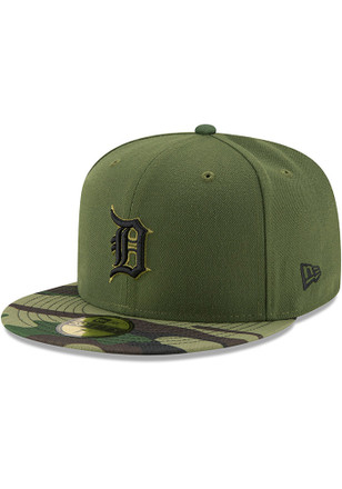 Detroit Tigers New Era Mens Green 2017 Memorial Day AC 59FIFTY Fitted Hat