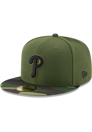 Philadelphia Phillies New Era Mens Green 2017 Memorial Day AC 59FIFTY Fitted Hat
