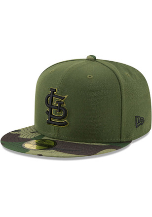 St Louis Cardinals New Era Mens Green 2017 Memorial Day AC 59FIFTY Fitted Hat