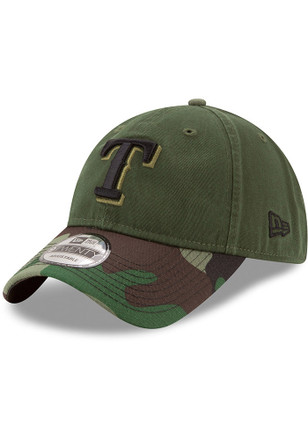 New Era Texas Rangers Mens Green 2017 Memorial Day 9TWENTY Adjustable Hat