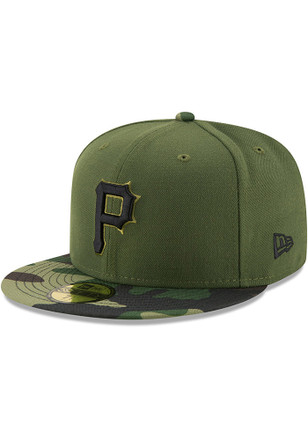 Pitt Pirates New Era Mens Green 2017 Memorial Day AC 59FIFTY Fitted Hat