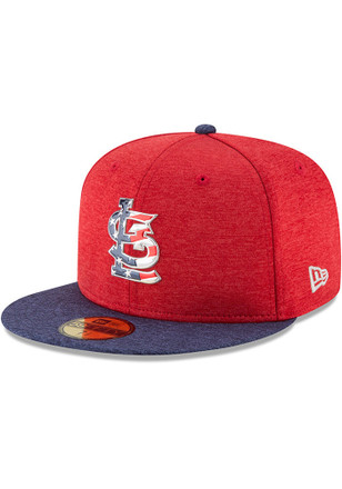 St Louis Cardinals New Era Mens Red 2017 4th of July AC 59FIFTY Fitted Hat