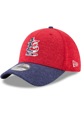 New Era St Louis Cardinals Mens Red 2017 4th of July 39THIRTY Flex Hat