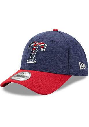 New Era Texas Rangers Mens Red 2017 4th of July 9FORTY Adjustable Hat