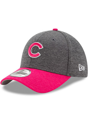 New Era Chicago Cubs Mens Grey 2017 Mothers Day 39THIRTY Flex Hat