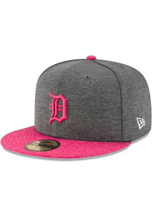 Detroit Tigers New Era Mens Grey 2017 Mothers Day AC 59FIFTY Fitted Hat