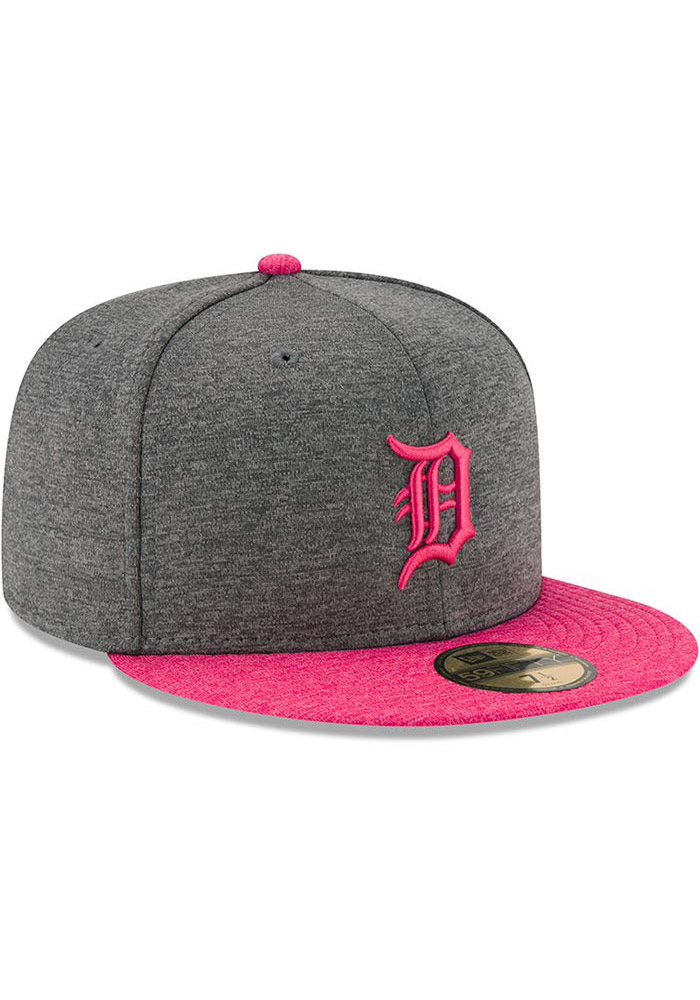 ea025a560a40d ... order new era detroit tigers mens grey 2017 mothers day ac 59fifty  fitted hat image 2