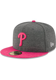 d0cea083685c9 Philadelphia Phillies New Era Grey 2017 Mothers Day AC 59FIFTY Fitted Hat