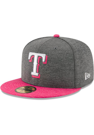 Texas Rangers New Era Mens Grey 2017 Mothers Day AC 59FIFTY Fitted Hat