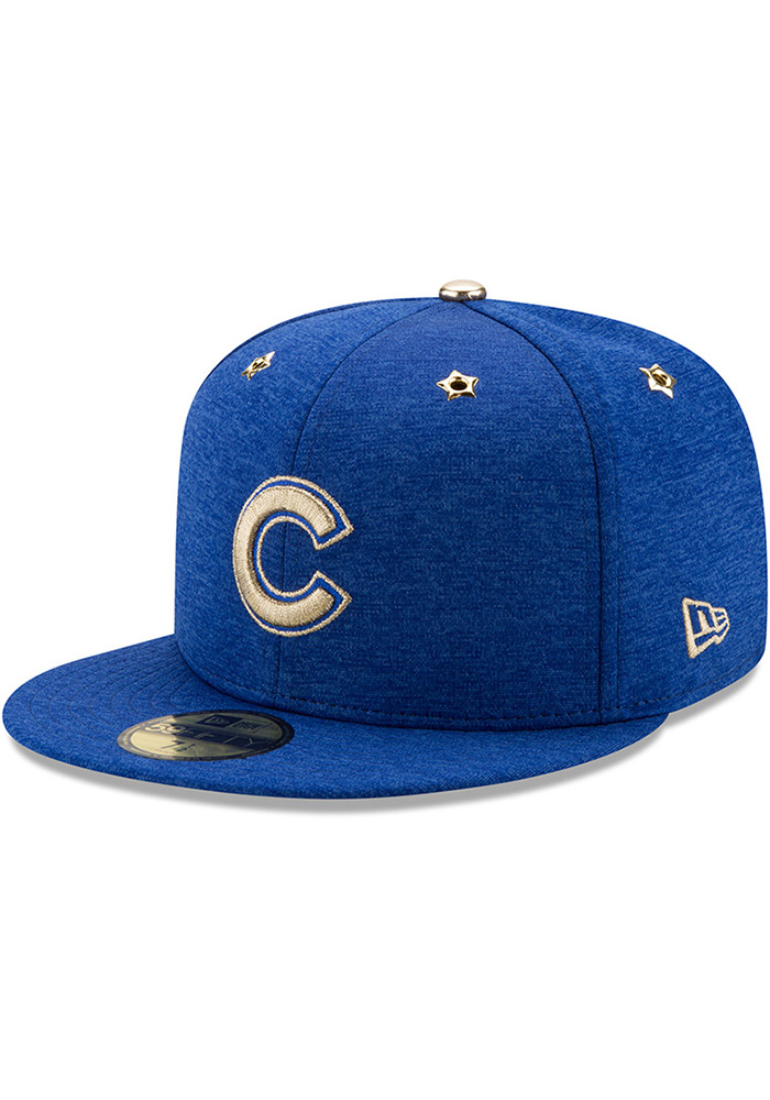 New Era Chicago Cubs Mens Blue 2017 All Star Game AC 59FIFTY Fitted Hat - Image 1