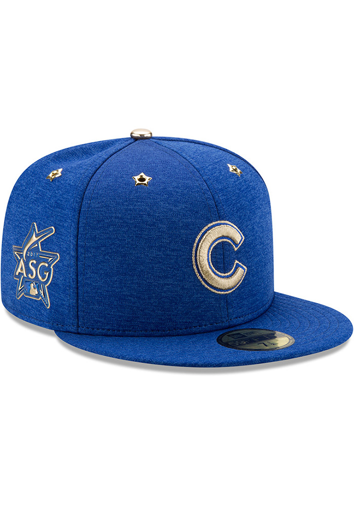 New Era Chicago Cubs Mens Blue 2017 All Star Game AC 59FIFTY Fitted Hat - Image 2