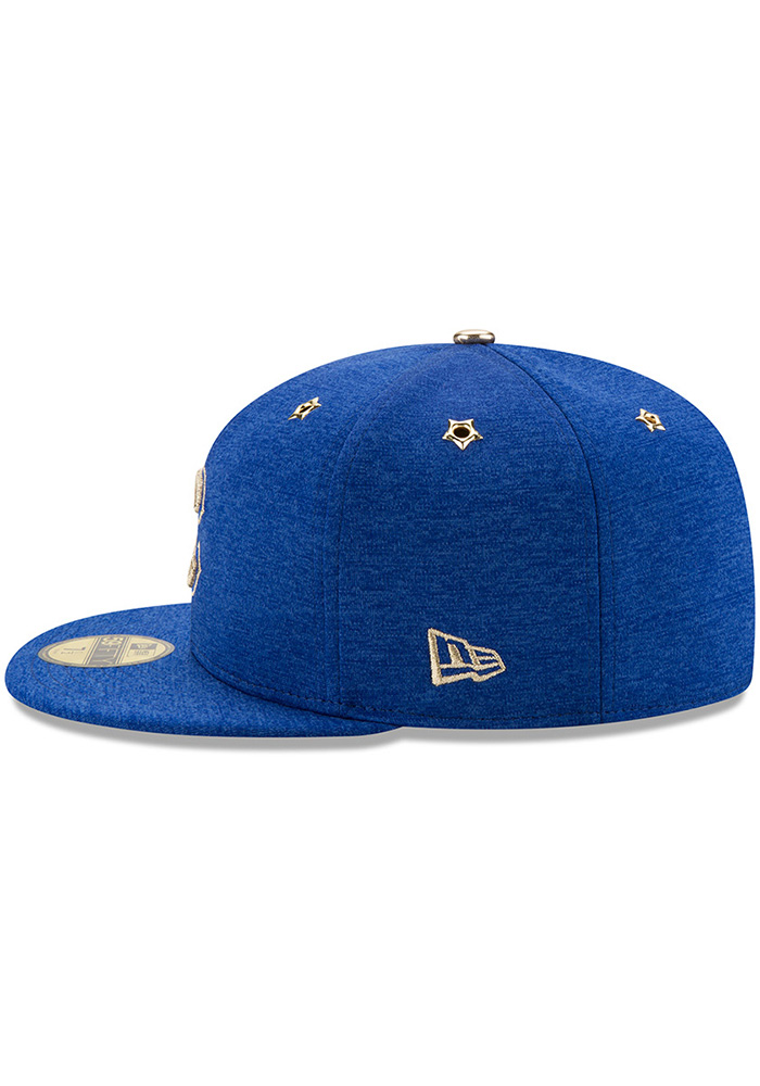 New Era Chicago Cubs Mens Blue 2017 All Star Game AC 59FIFTY Fitted Hat - Image 4