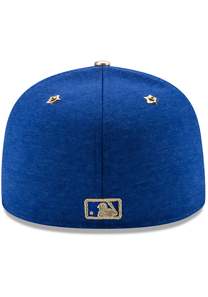 New Era Chicago Cubs Mens Blue 2017 All Star Game AC 59FIFTY Fitted Hat - Image 5