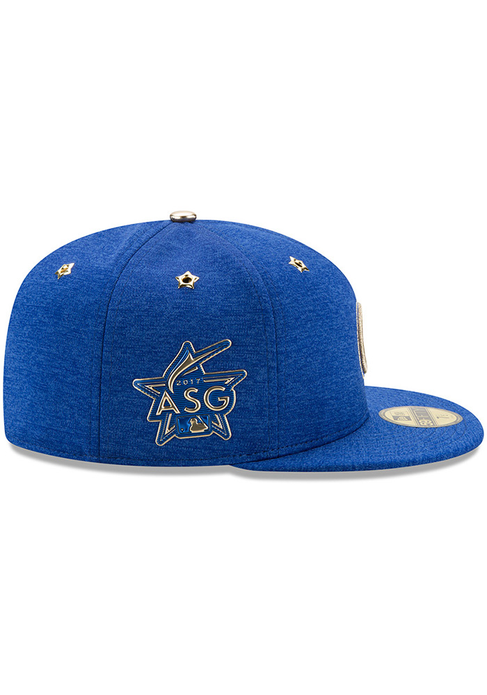 New Era Chicago Cubs Mens Blue 2017 All Star Game AC 59FIFTY Fitted Hat - Image 6