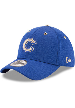 New Era Chicago Cubs Mens Blue 2017 All Star Game 39THIRTY Flex Hat