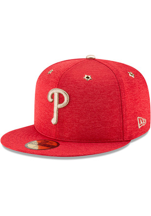 Philadelphia Phillies New Era Mens Red 2017 All Star Game AC 59FIFTY Fitted Hat
