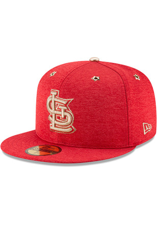 St Louis Cardinals New Era Mens Red 2017 All Star Game AC 59FIFTY Fitted Hat