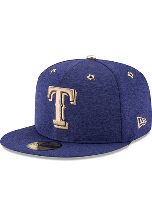 Texas Rangers New Era Mens Blue 2017 All Star Game AC 59FIFTY Fitted Hat