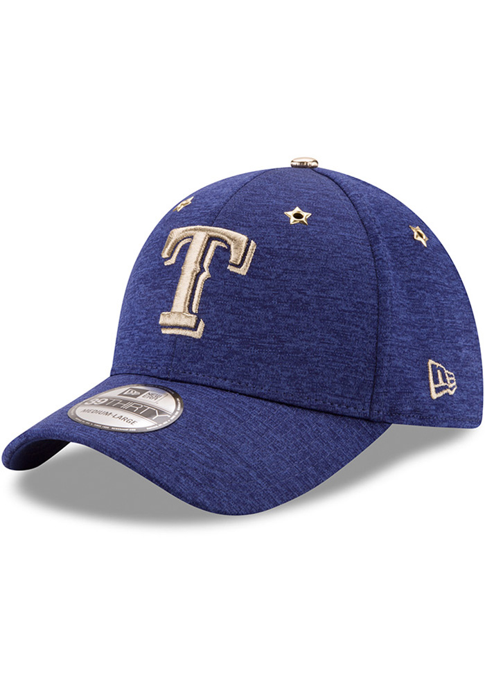 New Era Texas Rangers Mens Blue 2017 All Star Game 39THIRTY Flex Hat - Image 1