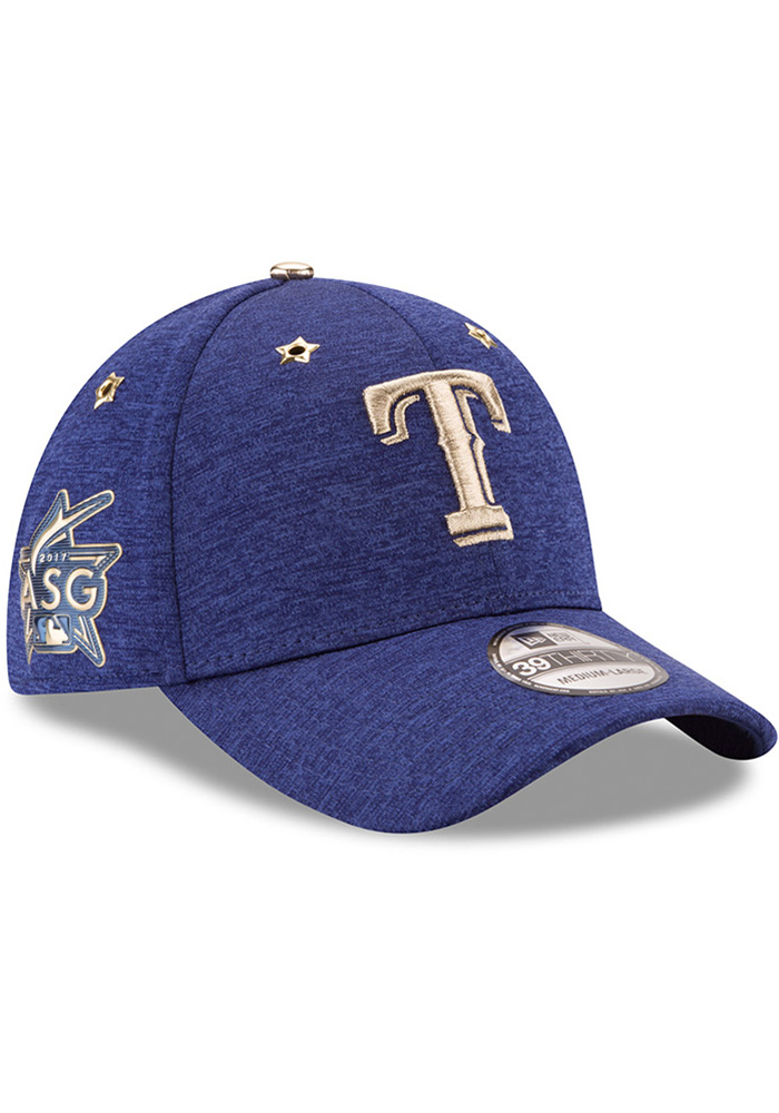 New Era Texas Rangers Mens Blue 2017 All Star Game 39THIRTY Flex Hat - Image 2