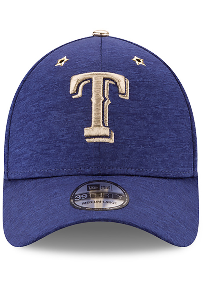 New Era Texas Rangers Mens Blue 2017 All Star Game 39THIRTY Flex Hat - Image 3