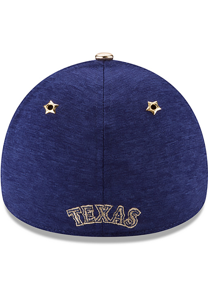 New Era Texas Rangers Mens Blue 2017 All Star Game 39THIRTY Flex Hat - Image 5