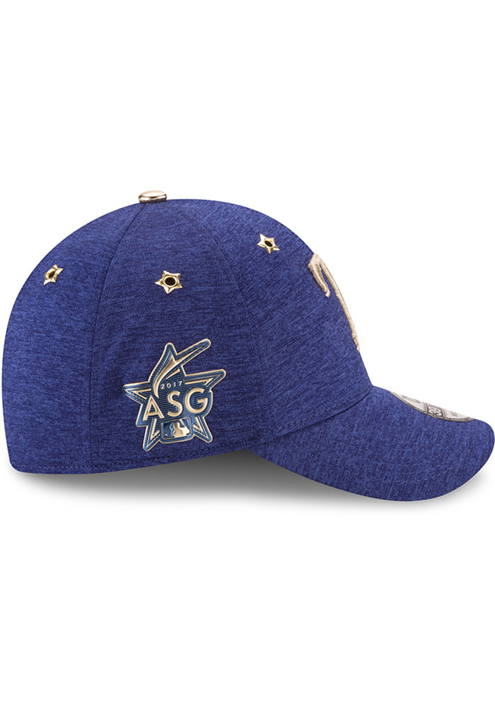 New Era Texas Rangers Mens Blue 2017 All Star Game 39THIRTY Flex Hat - Image 6