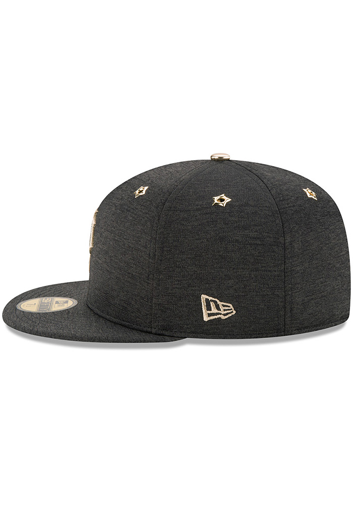 New Era Pittsburgh Pirates Mens Black 2017 All Star Game AC 59FIFTY Fitted Hat - Image 4
