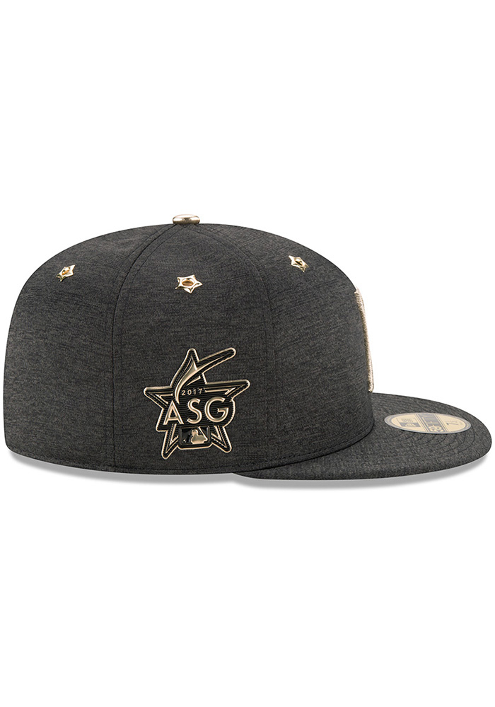 super popular c9c33 994ce New Era Pittsburgh Pirates Mens Black 2017 All Star Game AC 59FIFTY Fitted  Hat - Image