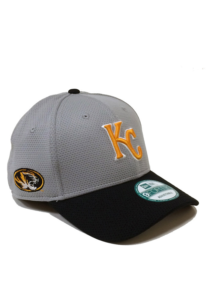 New Era Kansas City Royals Mens Grey Co Branded 9FORTY Adjustable Hat - Image 1