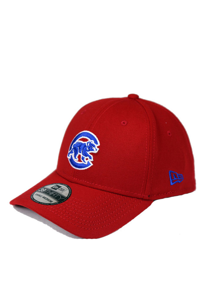 New Era Chicago Cubs Mens Red 39THIRTY Flex Hat - Image 1