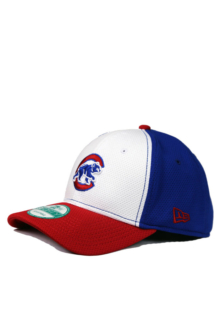 New Era Chicago Cubs Mens Blue White Front 9FORTY Adjustable Hat - Image 1